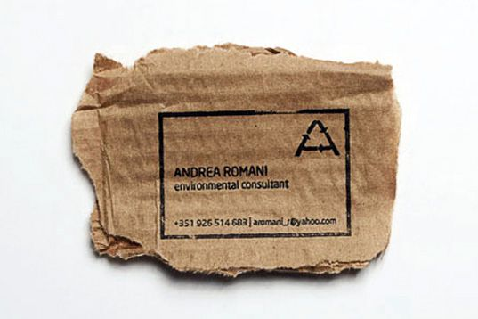 Brilliant Eco Business Card Can Be Printed On Practically Anything Eco Friendly Business Cards Business Cards Creative Business Cards