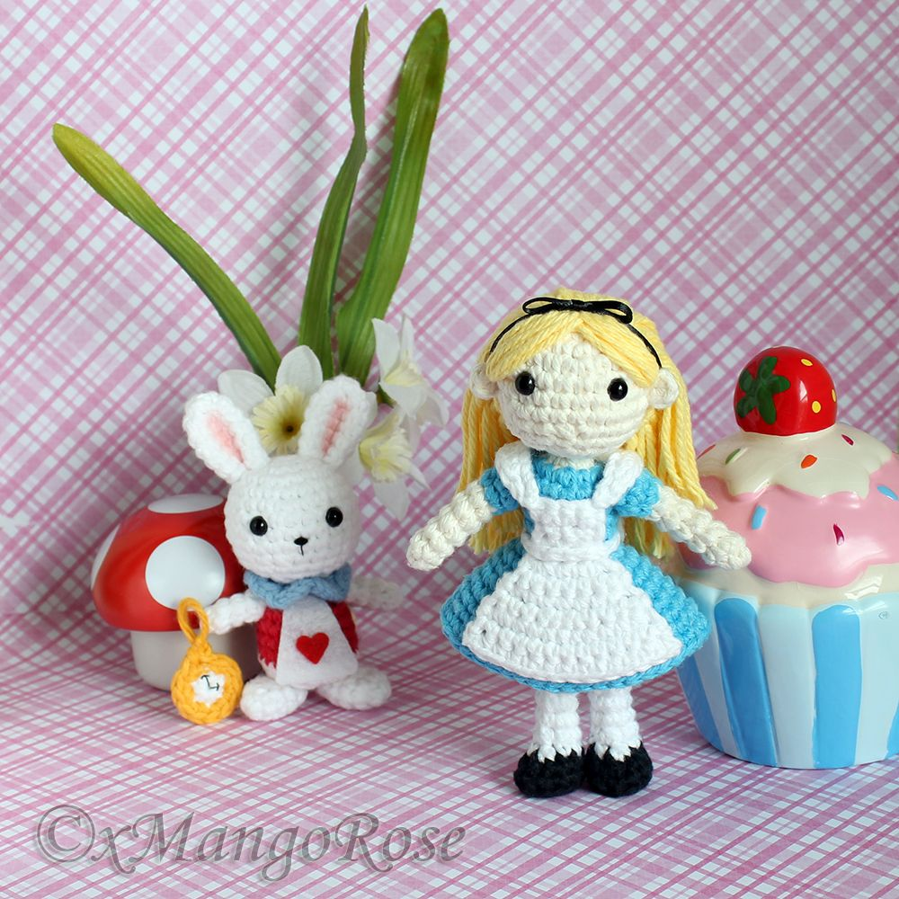 Crochet Doll Scarf Pattern Free : Alice in Wonderland and the White Rabbit by xMangoRose ...