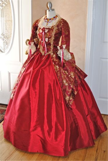 781167eeb43 Royal Red and Gold Victorian Costume Dress