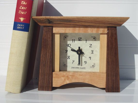 Mantel Clock Bungalow Clock Arts And Crafts Clock Desk Clock