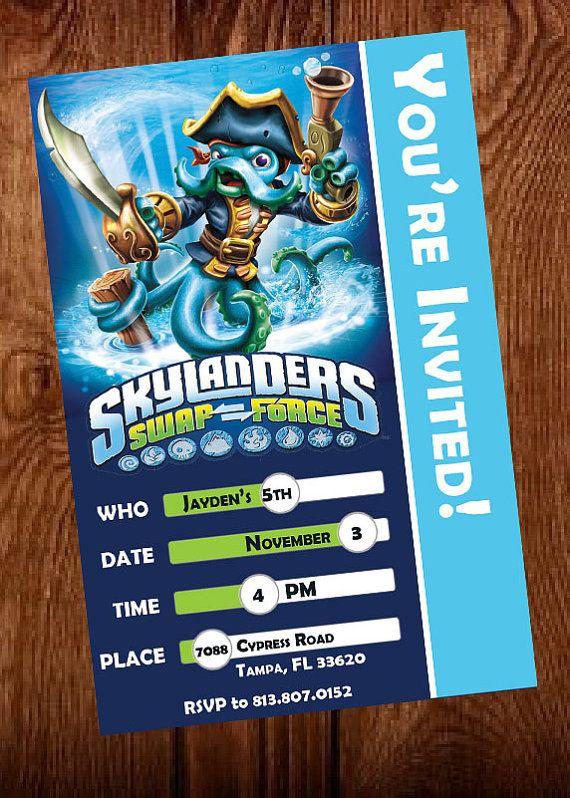 Skylanders Swap Force Birthday Invitation Ghost by MindfulInvites