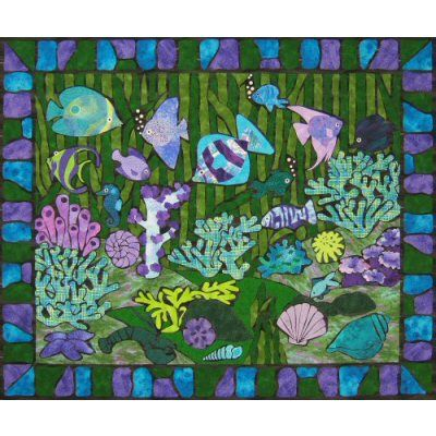 Jewels of the Sea Quilt Pattern http://www.victorianaquiltdesigns.com/VictorianaQuilters/PatternPage/JewelsoftheSea/JewelsoftheSea.htm #quilting #ocean
