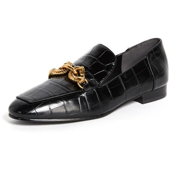 96e0072fedd Tory Burch Jessa Horse Hardware Loafers ( 350) ❤ liked on Polyvore  featuring shoes