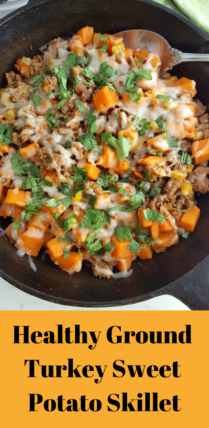Healthy Ground Turkey Sweet Potato Skillet | Food Dinner Recipes images