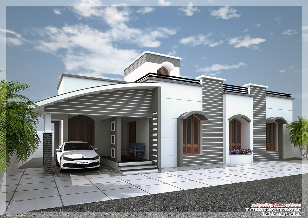 Elevations of single storey residential buildings google for Single story 4 bedroom modern house plans