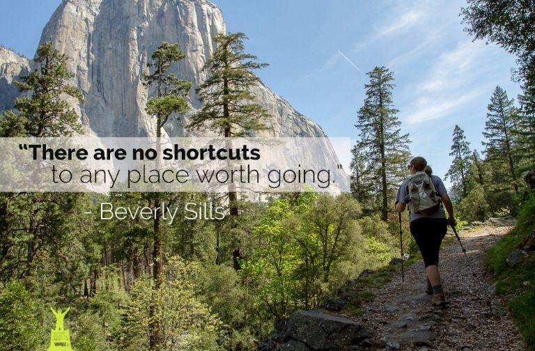 No shortcuts quote