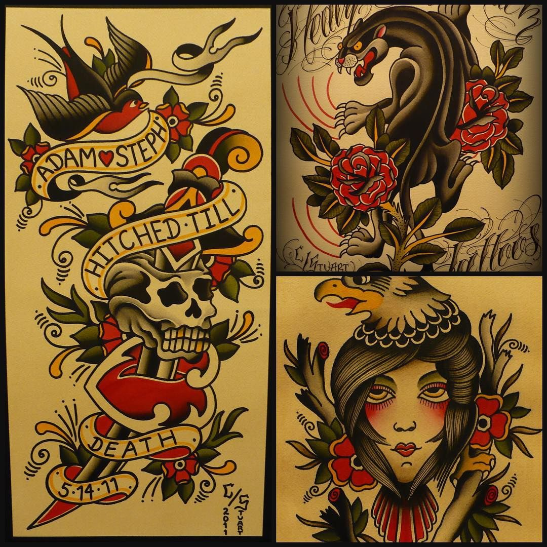 #tbt to years ago when I actually painted quite a bit. I need to make time for that again. #traditional #tattoos #painting