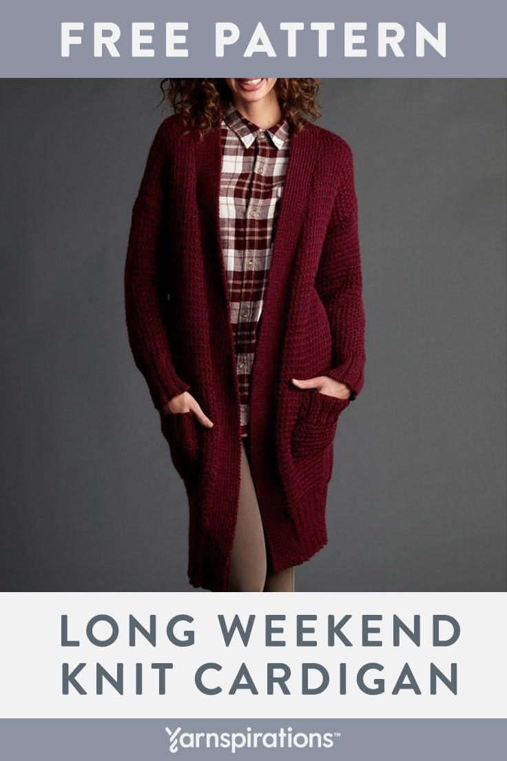 Free Knit Cardigan Pattern| Make this classic sweater with ...