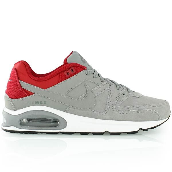 Nike Air Max Command Leather Sneakers Gym Red Black White