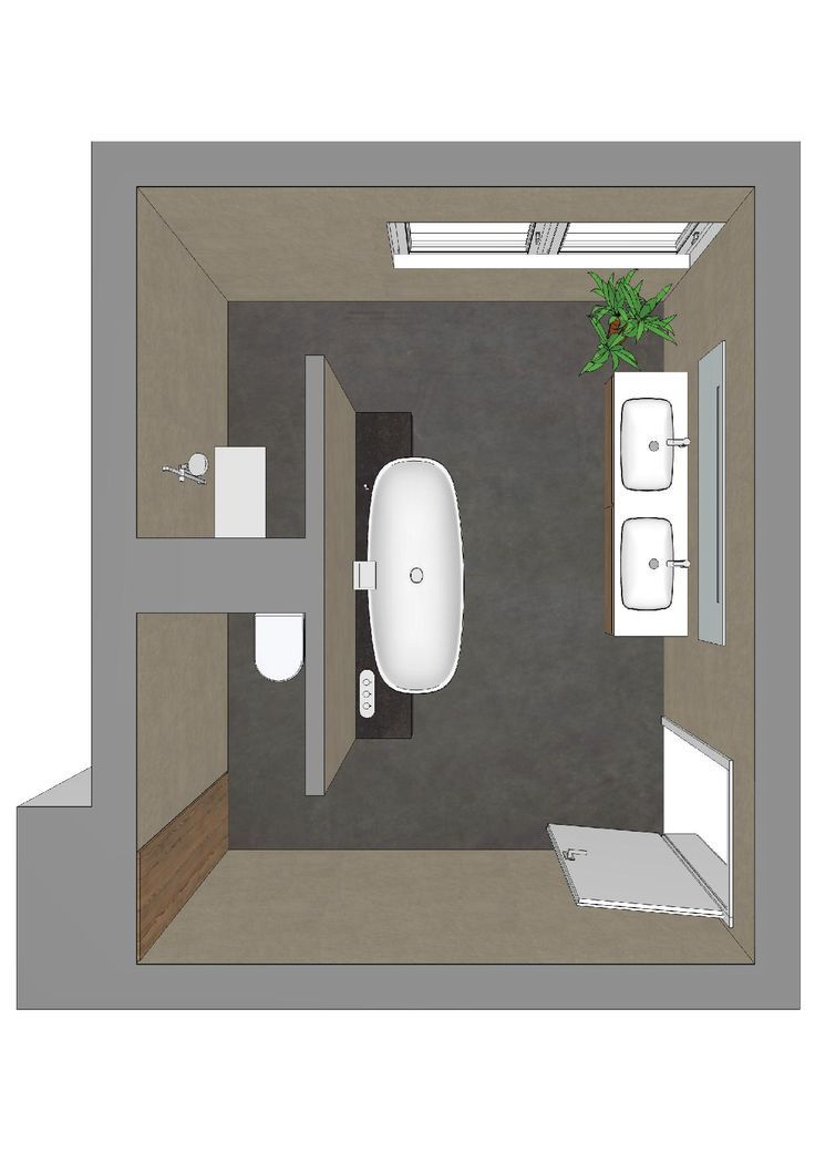 Badezimmerplanung mit T-Lösung | Grundrisse Hausbau | Pinterest ...
