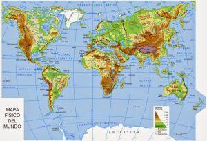 2 El Relieve De La Tierra Mapas Del Mundo Mapas Y Imagenes De