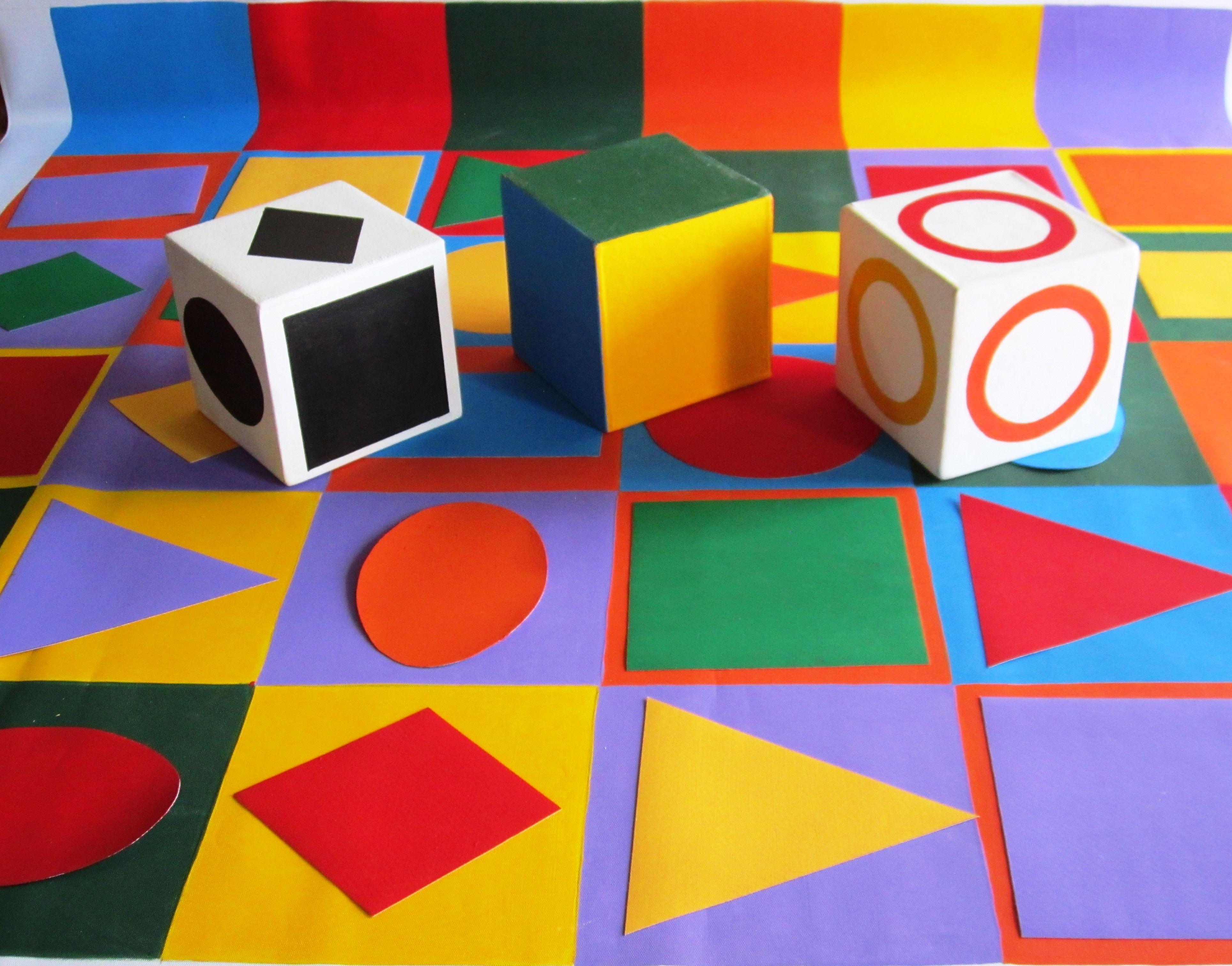 Detalle Didáctico 6x6 36 imágenes geométricas tres cubos de 10cms y ...