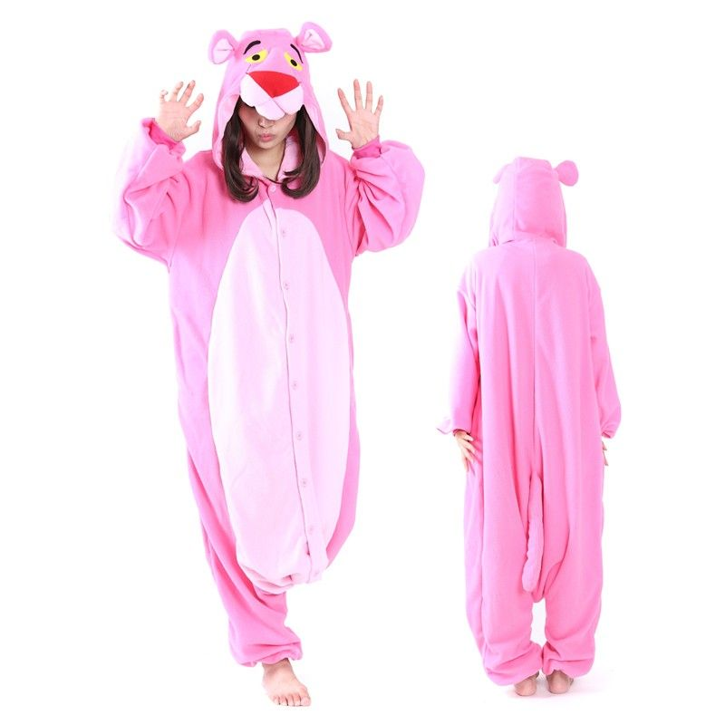 570526da0 2018 的 Pink Panther Onesie Pajamas Kigurumi Animal Costumes For ...