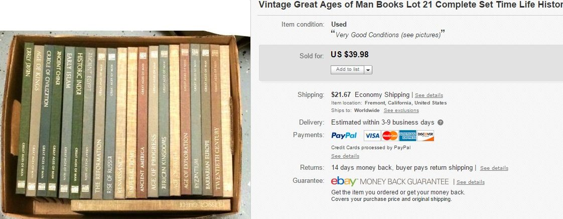 Great Ages of Man Books 21 books Complete sold at 39.98
