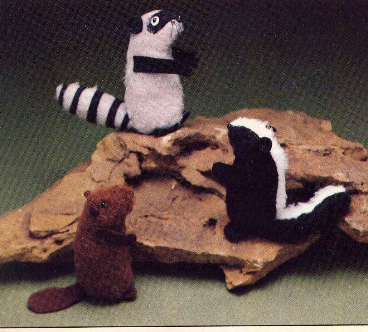 Vintage Tiny Stuffed Forest Animals Sewing Pattern Skunk, Beaver ...