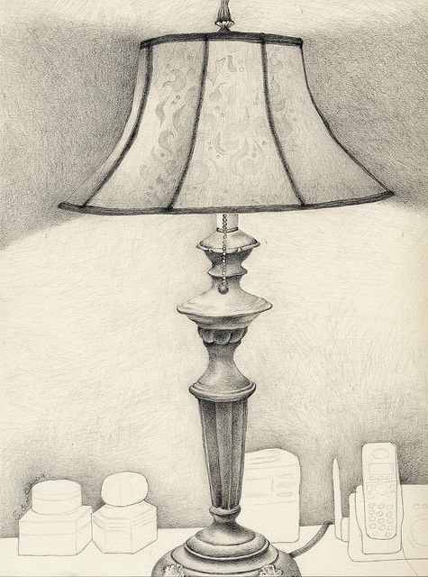 How To Draw A Beautiful Table Lamp