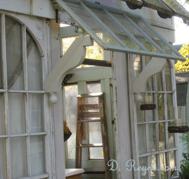Garden Shed Awning Diy Absolutely Love The Vintage Look