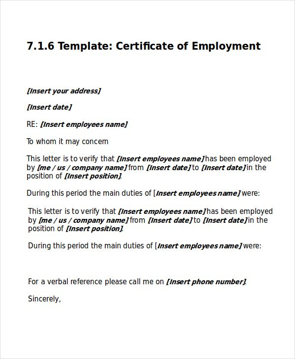Work Certificate Template Free Word Excel Pdf Documents Download