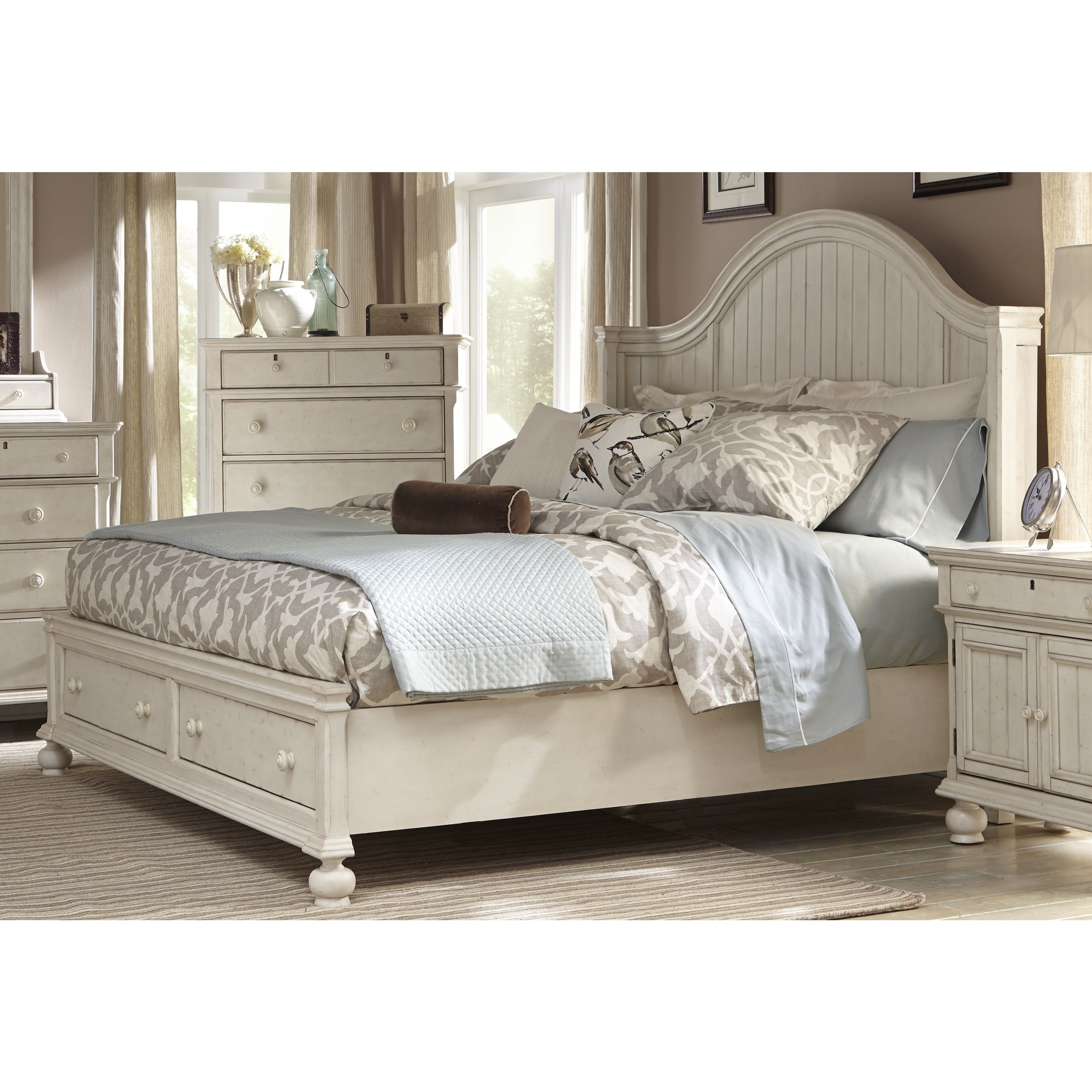 Laguna antique white storage bed by greyson living by greyson living