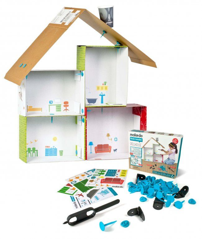 Gifts For Kids Makedo Find And Make Dollhouse A Design And