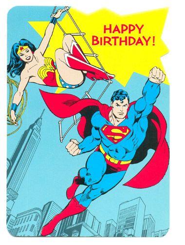 Superman Wonder Woman Happy Birthday