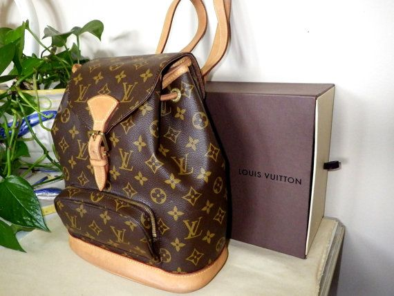 Authentic Louis Vuitton Backpack Montsouris MM by My3LadiesJewelry, $495.00