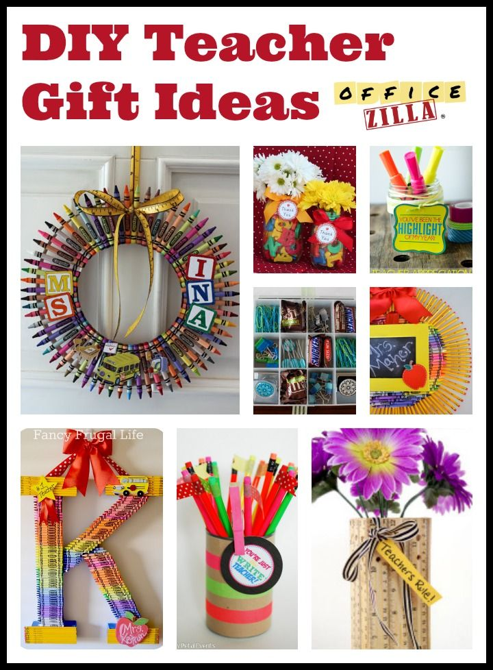 Click for 9 diy teacher gift ideas using office supplies for Customer holiday gift ideas
