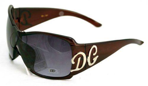 New DG Eyewear Womens Rhinestones Square Wrap Sunglasses