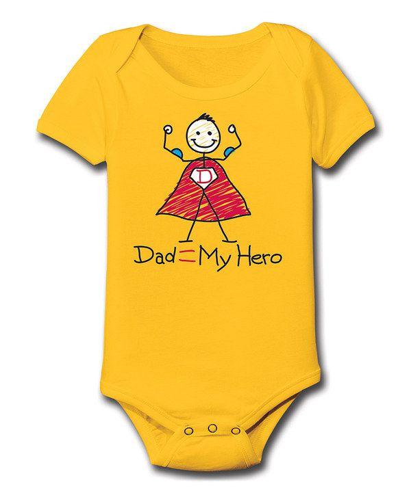 c53092f88eb6 Loving this Yellow  My Hero  Bodysuit - Infant on  zulily ...