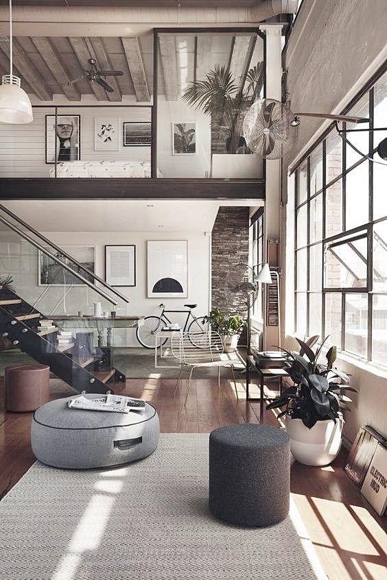 decoracin de interiores de estilo industrial loft