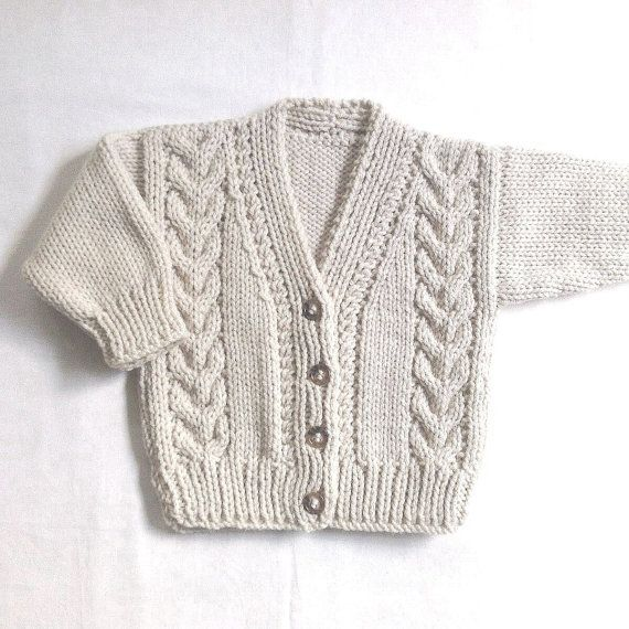 Infant Aran cardigan - 6 to 12 months - Baby clothing - Baby Aran ...