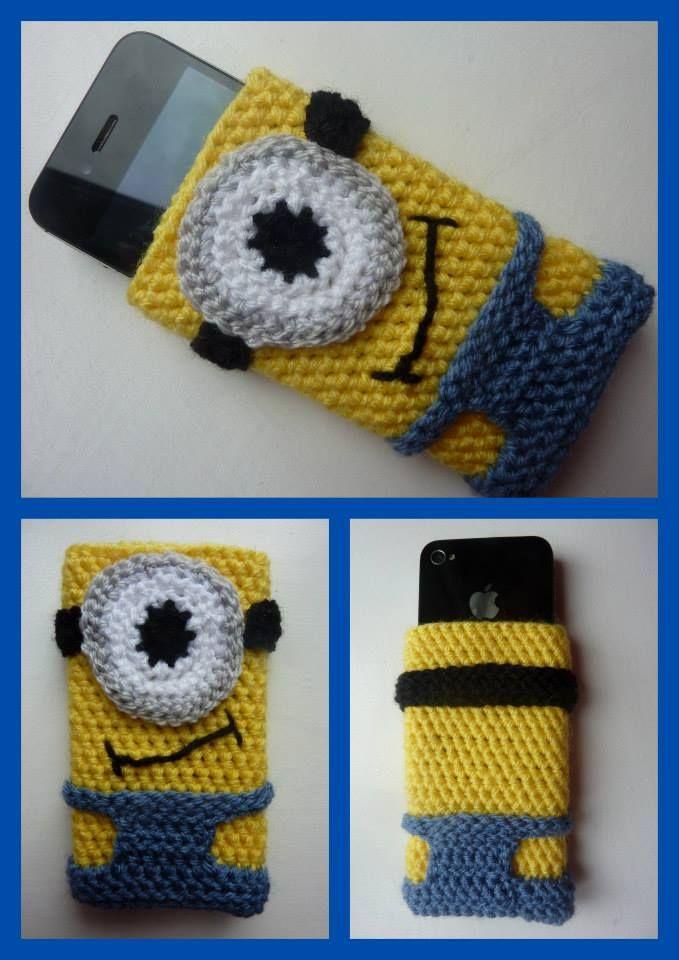 Minion inspired phone sleeve - The Supermums Craft Fair | Häkelideen ...