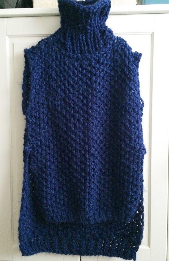 Patrón para tejer un suéter sin mangas a dos agujas | Crochet