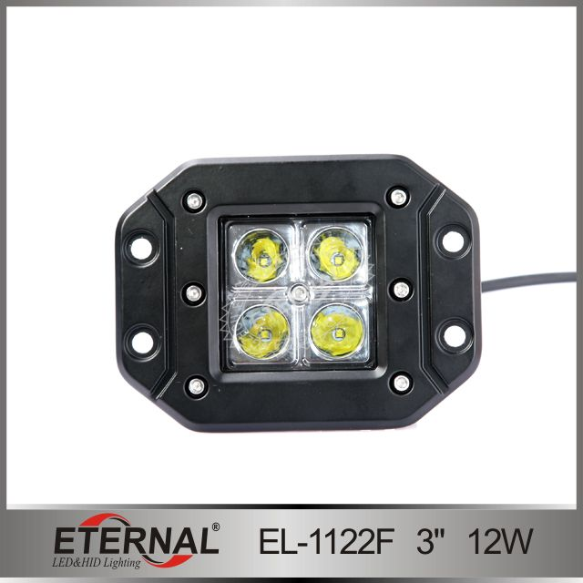 Flush Mount Atv Off Road Led Work Light Led Power 12watt Led Source Cree 3 Watt Operating Volt 10 30v Led Work Light Motorcycle Led Lighting Work Lights