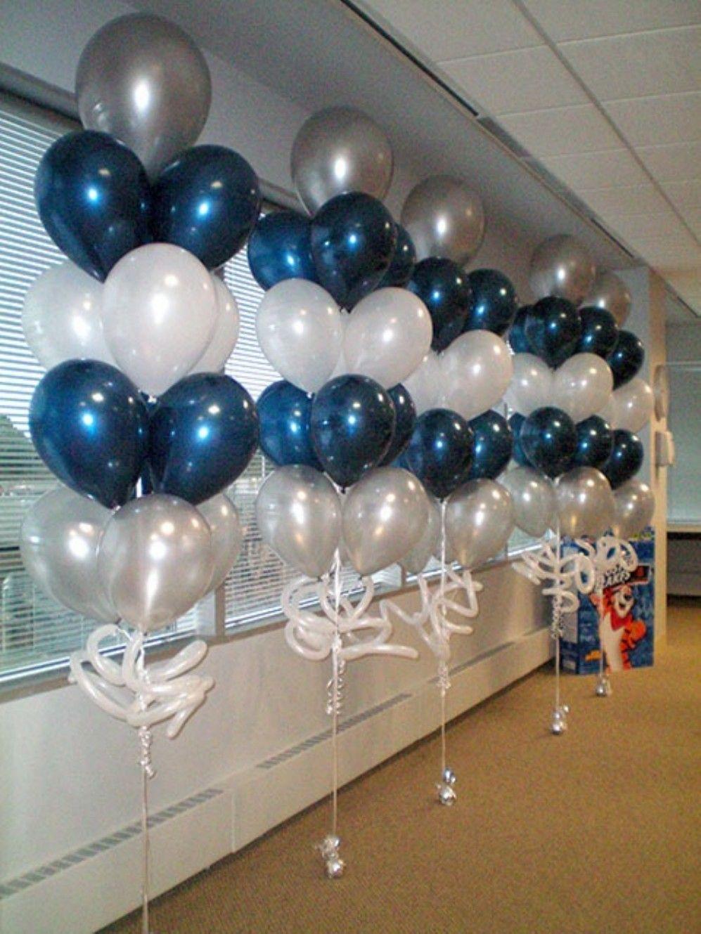 22 Ideas Navy Blue Party Decoration Concept Blue Party Decorations Diy Balloon Decorations Balloon Decorations