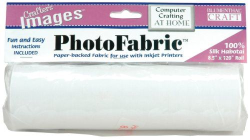 graphic about Printable Fabric Roll identify silk for inkjet printer: Blumenthal Lansing Crafters Pics