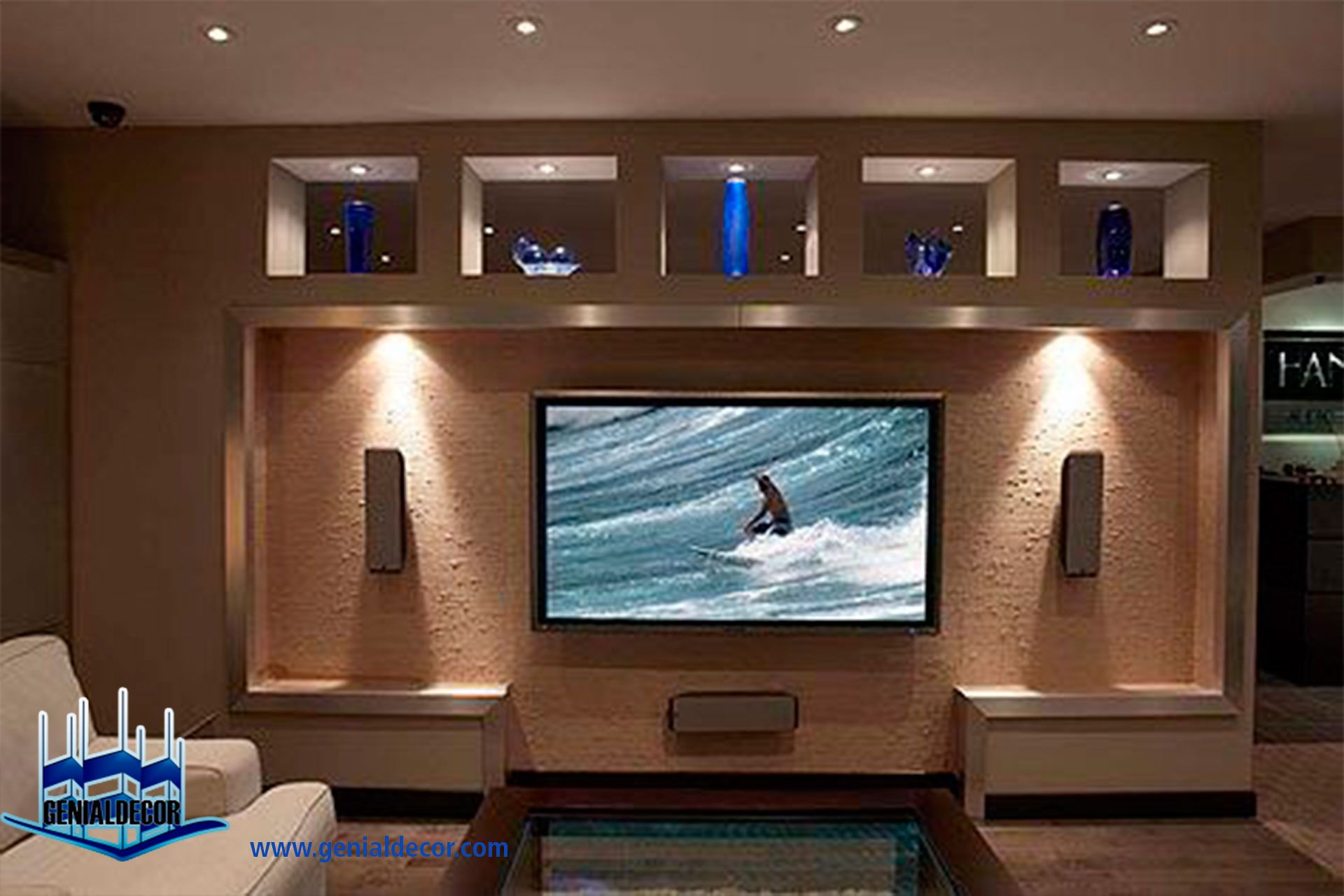 Tips para la decoraci n de centro de entretenimiento - Decoracion mueble tv ...