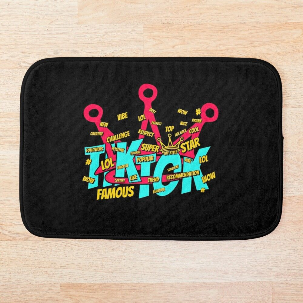 Get My Art Printed On Awesome Products Support Me At Redbubble Rbandme Https Www Redbubble Com I Bath Mat Tik T Famous Creative Challenge Baseball Tshirts