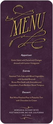 menu card cute idea for a formal dinner party party ideas decor