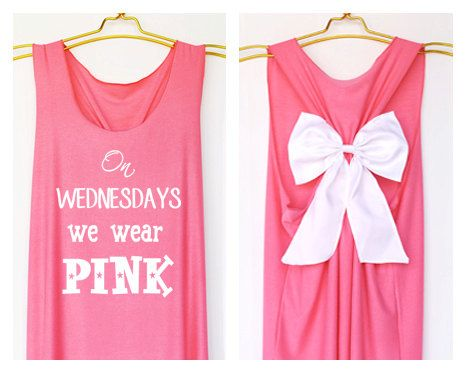 Too cute! On wednesday we wear pink Tank Premium with Bow ...