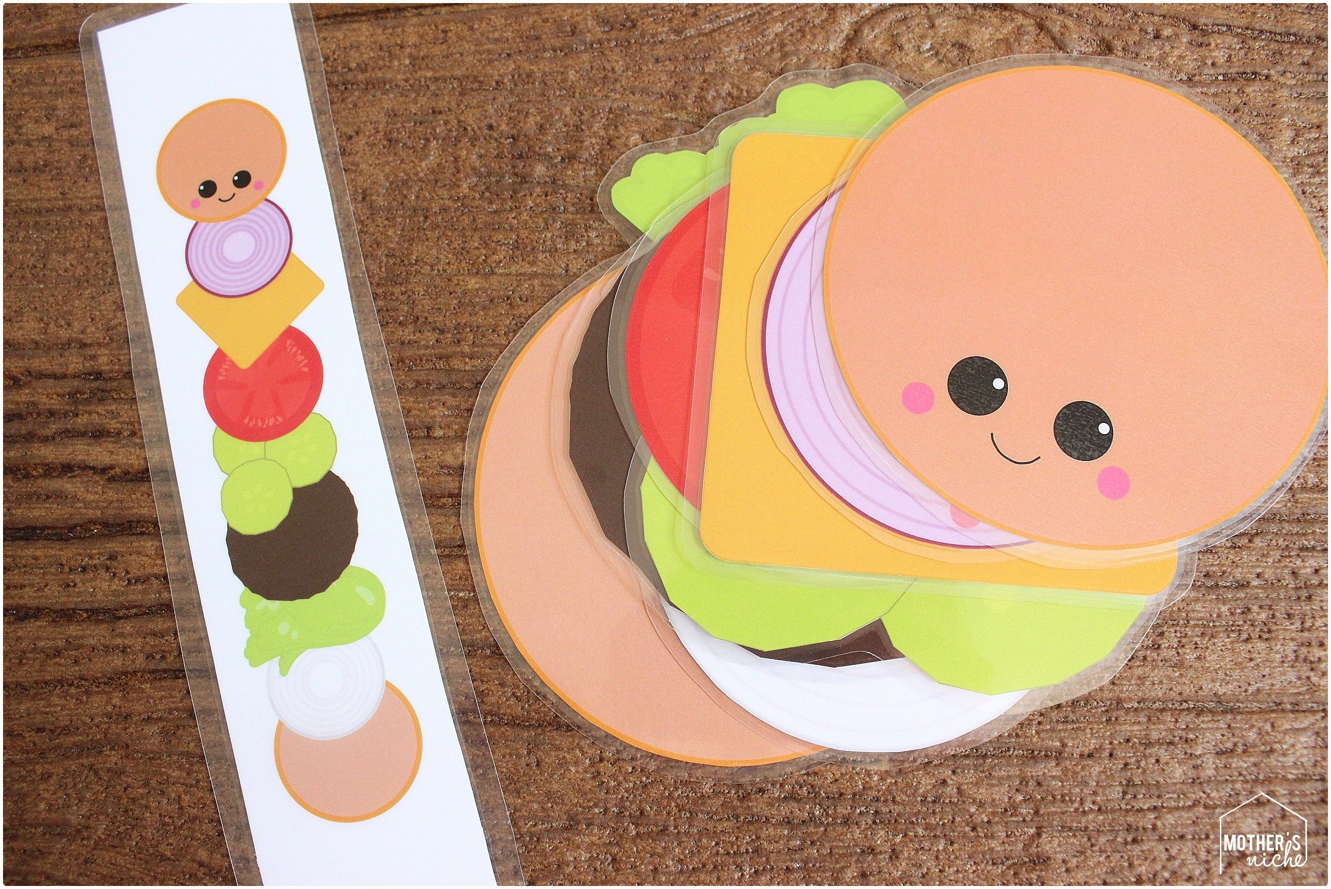 Build A Burger Busy Bag Printables