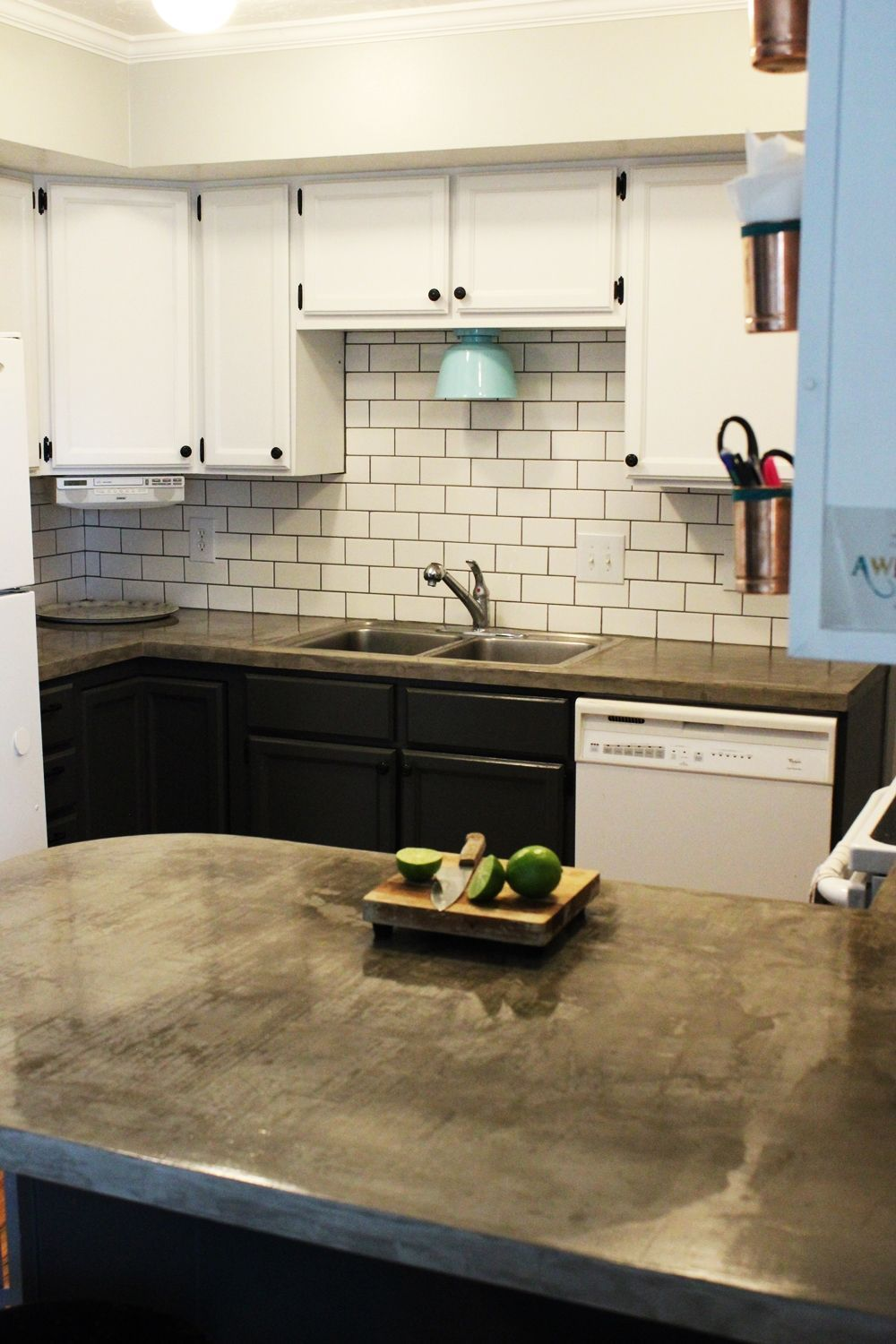 how to install a subway tile kitchen backsplash with