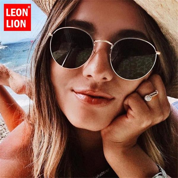 f7eeeeb00f LeonLion Luxury Mirror Sunglasses Women Men Brand Designer Glasses Lady  Round Sun Glasses Street Beat Oculos De Sol Gafas