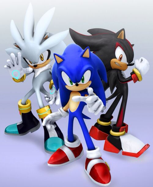Sonic Shadow Y Silver Sonic Sonic The Hedgehog Sonic And Shadow