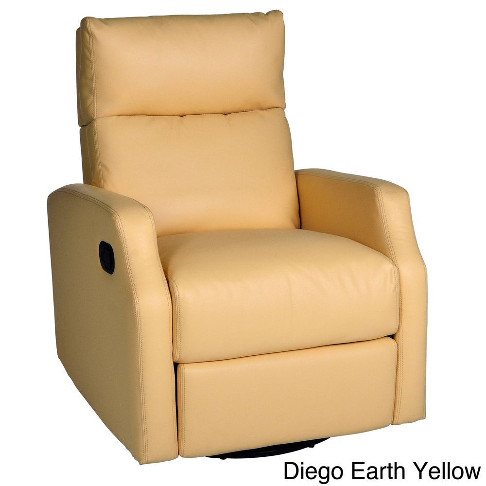 Sidney Bonded Leather Swivel Glider Recliner Overstock