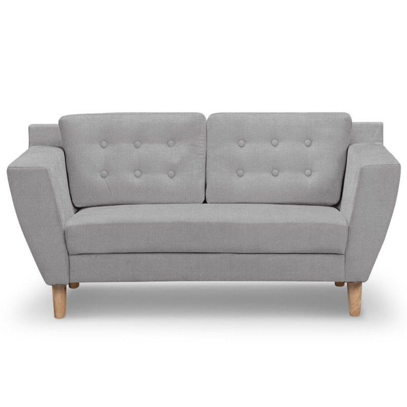 Sofa estilo escandinavo gibus 2 plaza tela gris sala de espera sof sof peque o y sof cama - Sofa 2 plazas pequeno ...