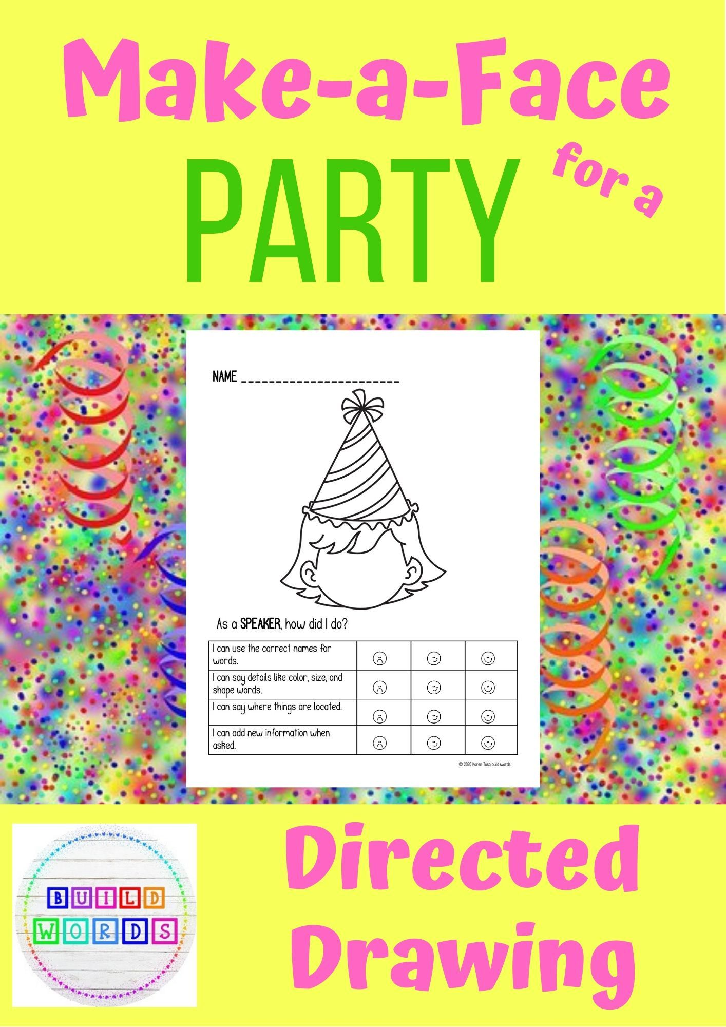 Make A Face For A Party Follow And Give Directions In