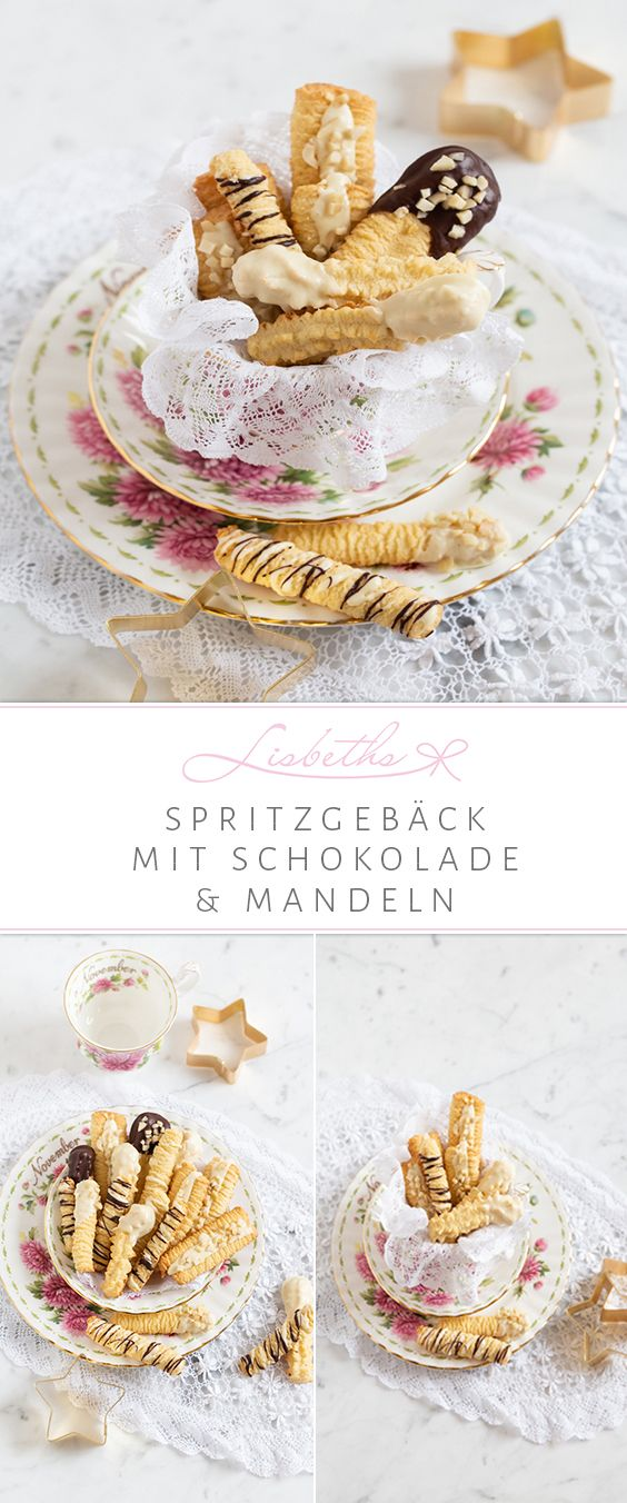 Spritzgebäck mit zweierlei Schokolade & Mandeln – Chefkoch ♥ Foodblogger