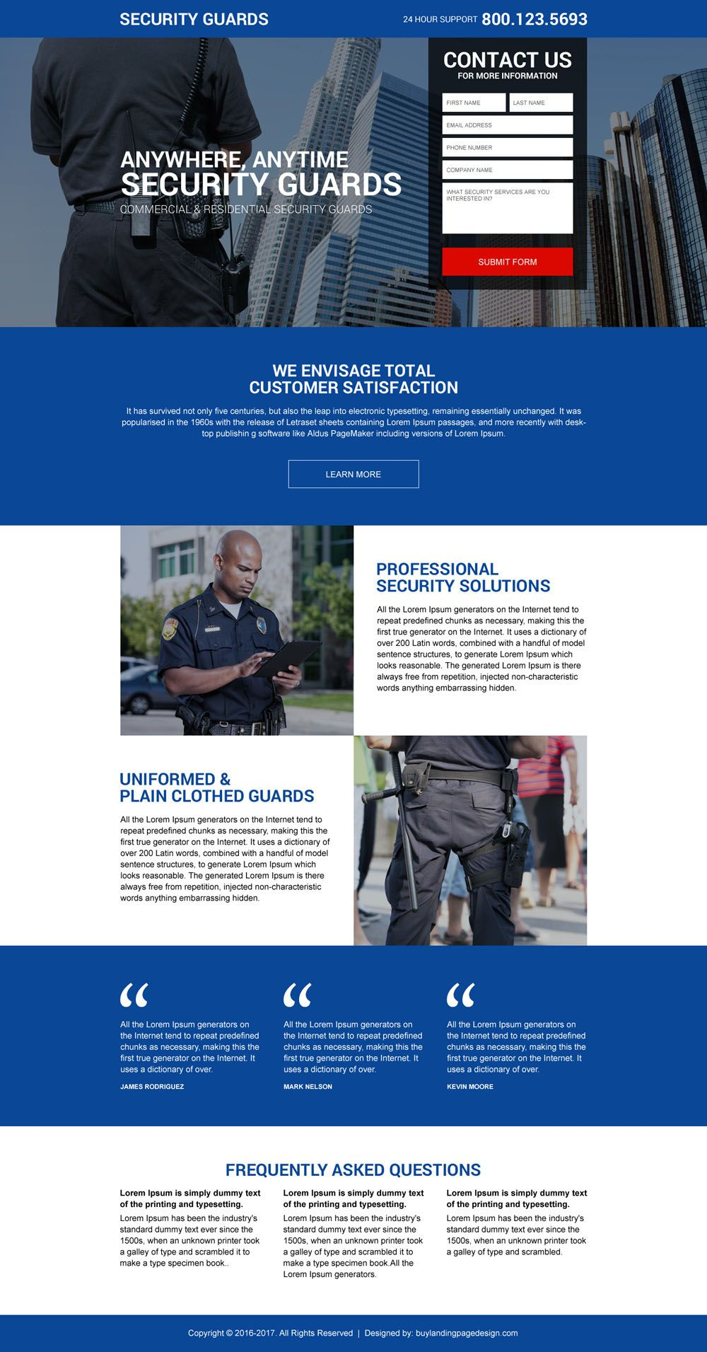 Top 12 Security Services And Device Selling Landing Pages Security Guard Services Security Security Guard