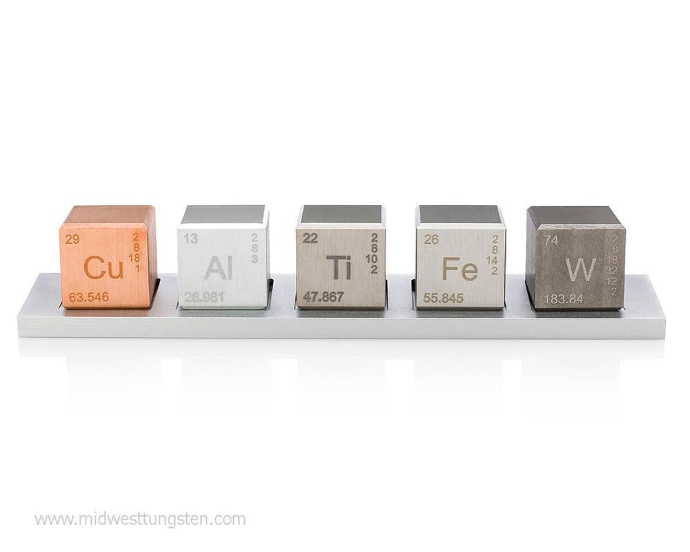 """Element 1"""" Cube Set (Tungsten Carbide, Copper, Titanium"""